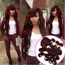 color 99j in marley hair hot sale beauty color 99j wine red hair weaves with lace closure