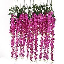 hanging flowers luyue 3 18 artificial silk wisteria vine ratta