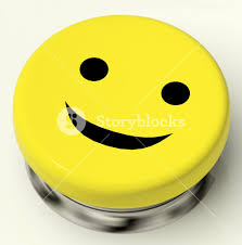 happiness symbol smiley button as symbol for cheer or happiness royalty free stock