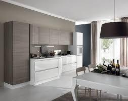 cuisine blanc et noyer cuisine design modèle terra cuisine sur mesure par lignes