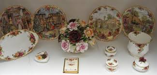 book plates dishes a royal albert country roses flower posy address book plates