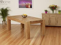 1home full solid oak dining table set with chunky legs room