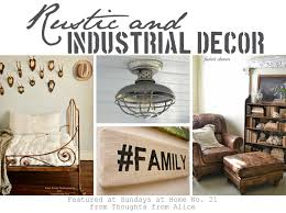 Rustic Industrial Bathroom - rustic and industrial decor sundays at home no 21 link party