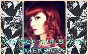 how to get vintage pinup curls with long hair or extensions by
