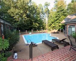 modern small rectangular swimming pool backyard and garden design