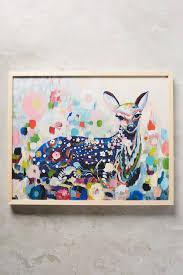 meadow fawn wall art anthropologie