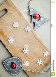 snowflakes border on wooden background flat lay winter holidays