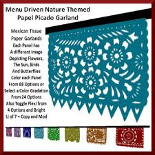 themed paper second marketplace nature themed mexican papel picado