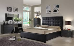 bedrooms black queen bedroom set modern bed frames leather