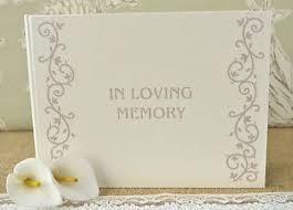 memorial book ivory in loving memory book condolence book memorial book