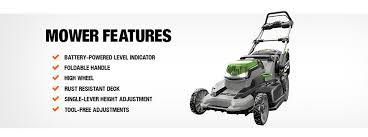 ego 20 in 56 volt lithium ion cordless battery push mower