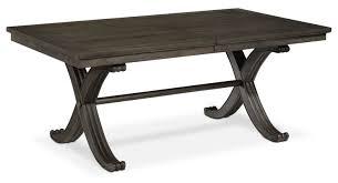 powell turino 7 piece rectangle dining room set in grey oak