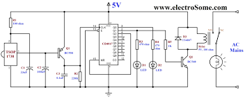 component volume control circuit diagram infrared remote how to