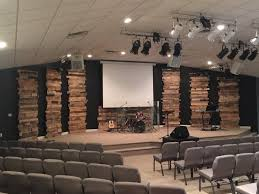 Church Interior Design Ideas Leaning Towers Of Pallets From Forest Park Church In Elizabeth
