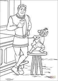 shrek human puss boots coloring free printable
