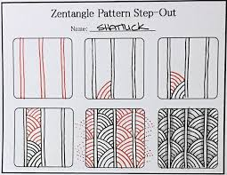tutorial how to draw the zentangle pattern shattuck always