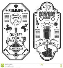 folk rock party summer country music festival flyer template