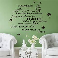 Family Rules Keep Your Promises Vinyl Quotes Wall Decals For - Family room wall decals