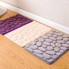 Bathroom Carpets Rugs New Cobblestone Welome Door Mats Flannel Toilet Bath Mats Anti
