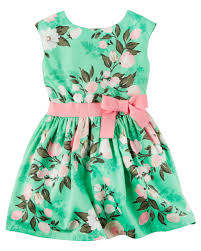 sateen floral dress carters com