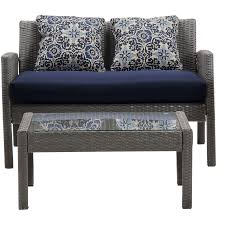 Blue Patio Chairs Chelsea 6 Piece Patio Set In Navy Blue Chel 6pc Nvy