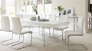 White And Oak Dining Table Modern White Oak Dining Table Glass Legs Seats 6 8