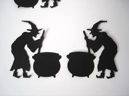 25 halloween black witch and cauldron die cut punch scrapbook