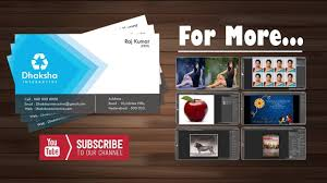 How To Create An Email Address For A Business by How To Create Visiting Card In Photoshop Business Card