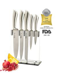 03 6 piece stainless steel professional kitchen knife set
