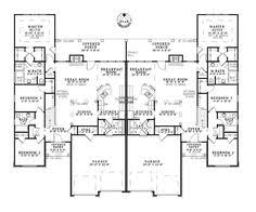 duplex plan chp 33733 at coolhouseplans com retirement home