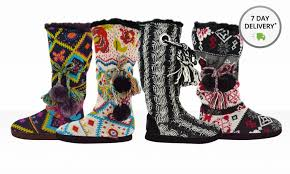 womens knit boots s knit slipper boots groupon goods