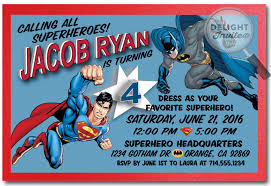 colors free printable sample superman birthday invitation