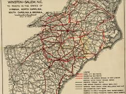 Greyhound Bus Routes Map by New Old Maps U2026 North Carolina Room Forsyth County Public Library