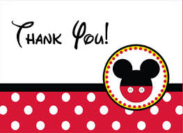 mickey mouse thank you cards mickey mouse thank you card mickey mouse mice and mickey mouse