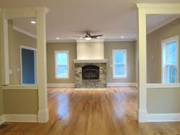 Living Room Flooring by Traditional Living Room With Stone Fireplace By