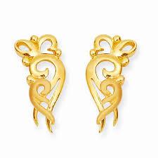 gold ear ring images earrings gold conch designer earring grt jewellers