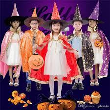 Cape Halloween Costume 2017 Childrens U0027 Halloween Costume Wizard Witch Cloak Hat