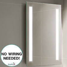 Battery Operated Bathroom Mirrors 500 X 700 Led Bathroom Mirror Wall Mounted Battery Powered