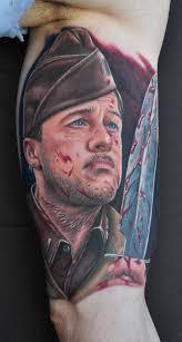 tattoo portraits on arm brad pitt tattoo portraits a life for hollywood tattoo life