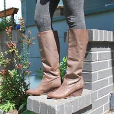 s frye boots size 9 s frye boots brown leather size 9 knee high wedge