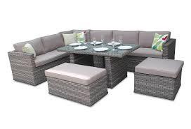 rattan corner sofa dining modular furniture set natural