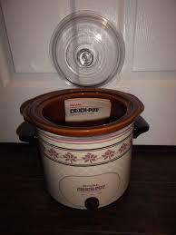 stoneware rice cooker vintage rival 3 5qt crock pot cooker w removable server lid