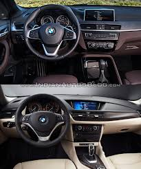2016 bmw x1 pictures photo 2016 bmw x1 vs 2014 bmw x1 dashboard old vs new indian autos blog