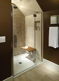 sitting area bathroom mti low profile multiple threshold shower