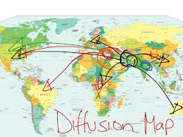 World Religions Map Universalizing Religions Diffusion Map History Showme