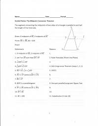 Glide Reflection Worksheet Geometry Common Core Style Lesson 11 5 The Midpoint Connector