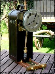the steampunk pendulum clock of the airship pirate pendulum