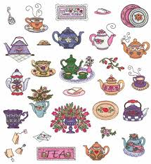 teapots embroidery designs by annie lang a new style for your tea