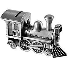 engraved piggy banks locomotive custom engraved piggy bank brushed nickel