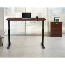 Realspace Magellan Desk Realspace Magellan Steel Wood Stand Up Height Adjustable Desk 43